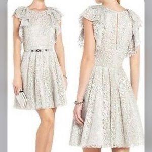 Sandro Paris lace metallic dress sz 4